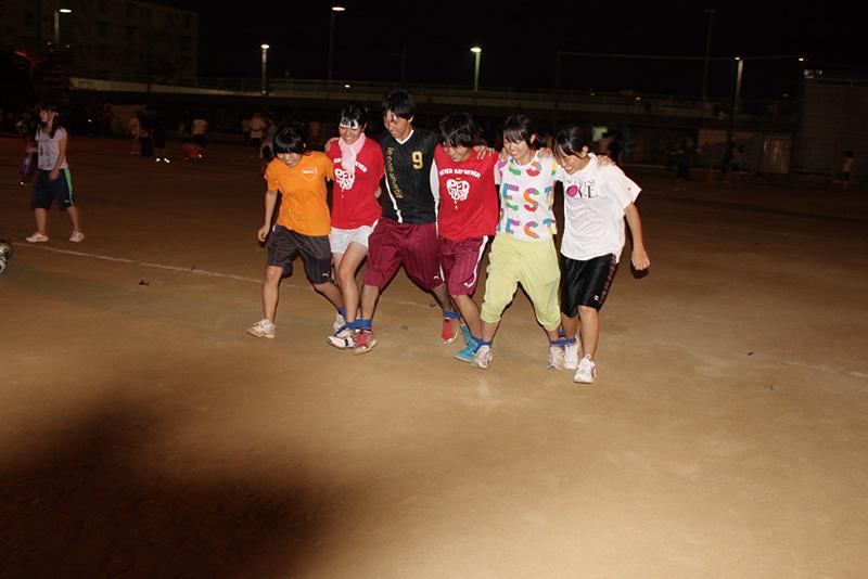 前日夜の競技練習