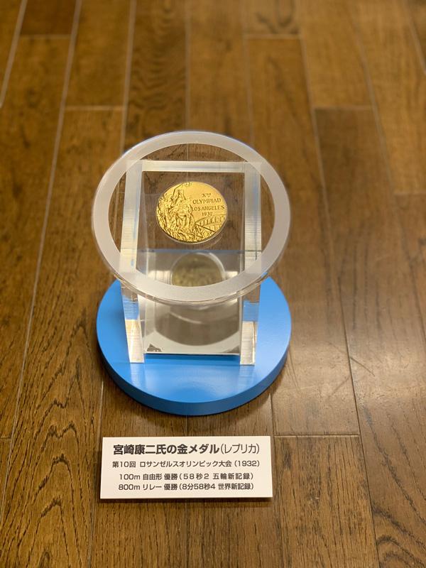 宮崎康二氏(中38回)の金メダル(レプリカ)濱松一中4年